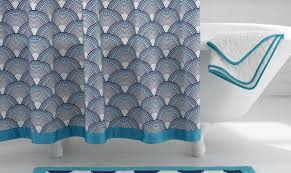 Turquoise And Grey Shower Curtain Elegant High End Shower Curtains