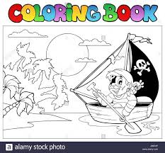 colour paint painted pirate buccaneer colouring book humans