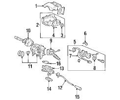 2004 honda odyssey parts parts com honda lck assy steering partnumber 35100s0x305