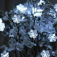 snowflake string of lights snowflake string light yming 19 6ft 40 leds usb plug in waterproof