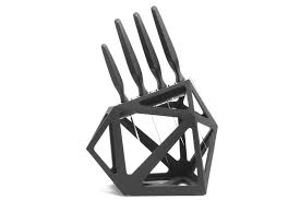 black diamond knife block looks stylish in a modern kitchen ohgizmo