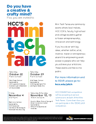 upcoming events mini tech fair show u0026 tell event u2013 ideas pitch