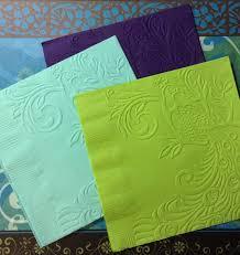 peacock napkins embossed paper napkin wedding anniversary