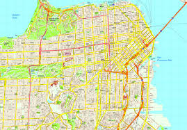 Presidio San Francisco Map by United Illustrator Eps City U0026 Country Maps Part 6
