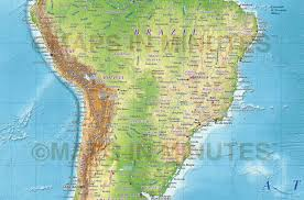 North America South America Map by North America Physical Map Shaded Relief Maps Of The United