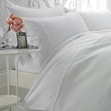 White Cotton Bed Linen - waffle weave egyptian cotton duvet cover set with pillow case s