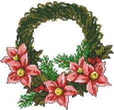 advanced embroidery designs poinsettia wreath