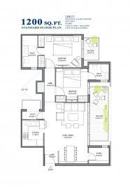 customized floor plans stunning standard floor plan bhk sq ft customized 1200 square