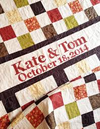Wedding Quilt Sayings Wedding Quilt Patchwork Monogram Name Quilt Custom Made Perfect