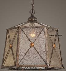 aged french country tuscan bronze pendant light fixture mini