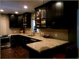 Kitchen Colors For Oak Cabinets by Painting Oak Kitchen Cabinets Espresso Over Stained Wood White