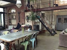 Industrial House by Funky Vintage Industrial Living Space With Brick Walls Home