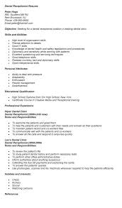 resume template for receptionist dental receptionist resume sle resume template info