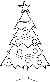 simple christmas tree outline christmas lights decoration
