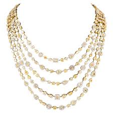 necklace diamond gold images Incredible multi shape yellow and white diamond gold necklace for jpg