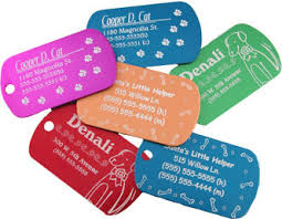 pet tag laser engraving