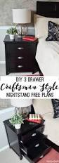 Mission Style Nightstand Plans Diy Craftsman 3 Drawer Nightstand Her Tool Belt