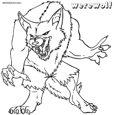 werewolf coloring pages coloring pages to download and print
