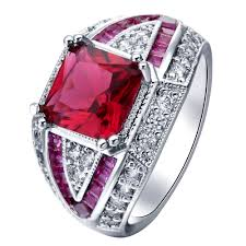 new promise rings images 2017 natural stone promise ring new red corundum jewelry princess jpg