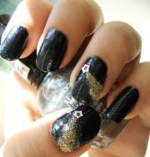 color block nail art tutorial with caviar beads youtube black and