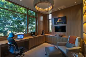 home office with tv lighting chair home office contemporary with built in tv in office
