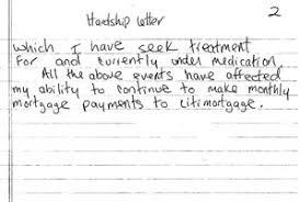 hardship letter sample