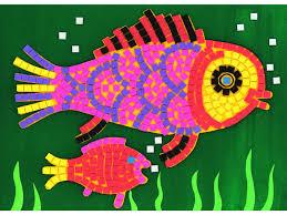 mosaic craft for kids arts crafts ideas movement