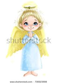 wings praying illustration stock illustration