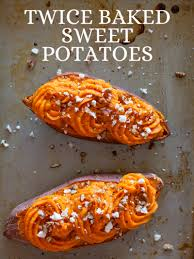 thanksgiving yams recipe twice baked sweet potatoes recipe spoon fork bacon