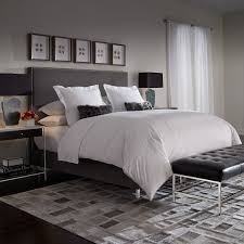 Room And Board Portica Bed by The Morrison Platform Bed Has A Slim Parsons Inspired Headboard