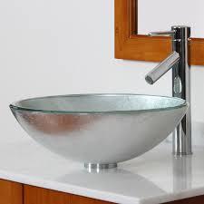 elite 1308 2659c modern tempered glass bathroom vessel sink with
