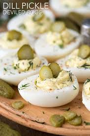 deviled egg dishes dill pickle deviled eggs spend with pennies