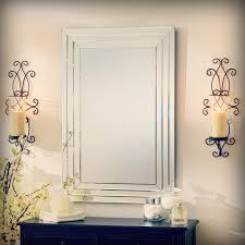 Update Bathroom Mirror by Bathroom Update Kohler Purist Sconces Mounted On A Sheet Mirror