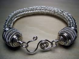 silver bracelet wire images Silver viking knit wire bracelet entwinedvines on artfire jpg