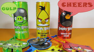 angry birds soft drinks opening coke green apple and vitamin