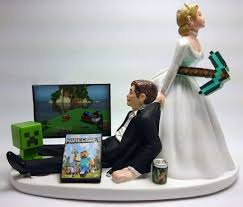 minecraft cake topper minecraft wedding cake topper and groom https www
