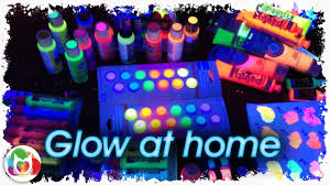 live glow at home diy black light painting party with the art