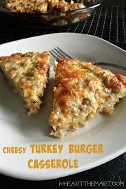 cheesy turkey burger casserole diy projects turkey