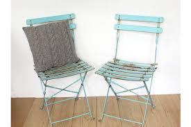 Garden Bistro Chairs Vintage Turquoise Metal Folding Garden Bistro Chairs Vinterior