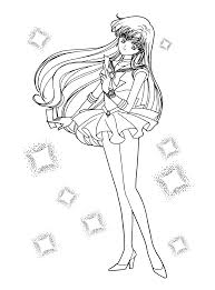 sailor mars free coloring pages on art coloring pages