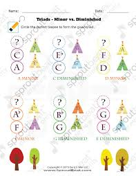 worksheets thanksgiving triad