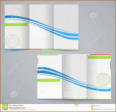 trifold brochure template sop example
