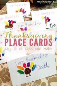 thanksgiving card for kids thanksgiving place cards that kids can make free printable