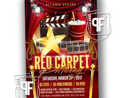 red carpet invitations etsy