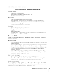 16 best images of inference worksheets middle reading