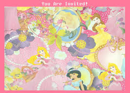 free printables disney princess party birthday invitation
