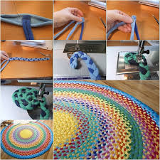 Upcycle Old Tshirts - diy upcycled crochet rag rug from old t shirts