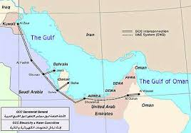 middle east map gulf of oman abb helps interconnect the middle east with new power grid