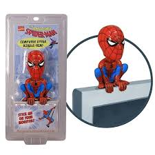 spider man computer sitter bobble head funko spider man