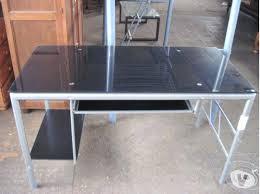 bureau metal et verre bureau verre metal bureau en bureau verre metal et bois civilware co
